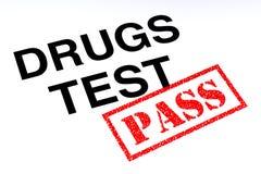 De Pas van de drugstest royalty-vrije illustratie