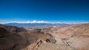 De pas van Khardungla stock foto