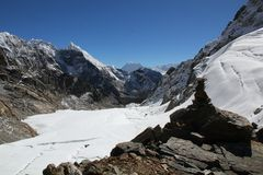 De Pas van La Himalayagebergte - Cho Royalty-vrije Stock Afbeeldingen
