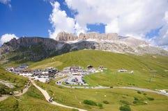 De pas van Pordoi - Dolomiet, Italië Stock Afbeeldingen