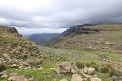 De Pas van Sani, Drakensberg royalty-vrije stock fotografie