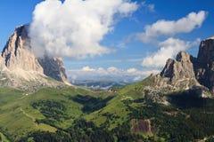 De pas van Sella, Trentino, Italië royalty-vrije stock afbeeldingen
