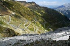 De pas van Stelvio, Bolzano - Italië stock afbeeldingen
