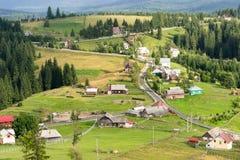De pas van Tihuta van het landschapspanorama - Roemenië stock afbeelding