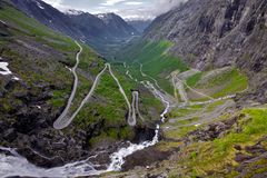 De pas van Trollstigen, Noorwegen Royalty-vrije Stock Foto