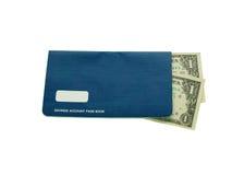 De pasboek van de spaarrekening Stock Foto's