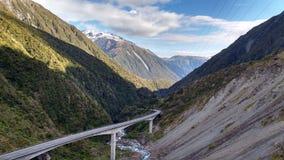 De Pasbrug van Arthur in Nieuw Zeeland royalty-vrije stock fotografie