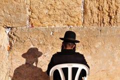 De Pascha die van Jeruzalem bij de Westelijke Muur zegent Royalty-vrije Stock Foto