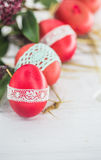 De Pascua todavía de los huevos vida roja Fotografía de archivo libre de regalías