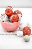 De Pascua todavía de los huevos vida roja Fotos de archivo libres de regalías