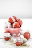 De Pascua todavía de los huevos vida roja Foto de archivo libre de regalías