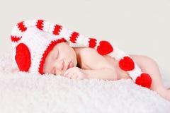 De pasgeboren Slaap van de Baby royalty-vrije stock foto's