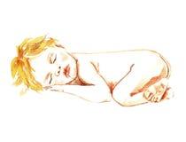 De pasgeboren Slaap van de Baby Royalty-vrije Stock Fotografie