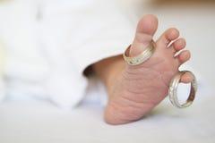 De pasgeboren Voet van de Baby Royalty-vrije Stock Afbeelding