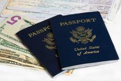 De paspoorten van de V.S. Stock Foto's