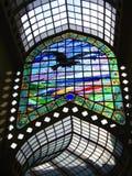 De Passage van het gebrandschilderd glas - het Zwarte Hotel van de Adelaar, Oradea, Roemenië Stock Fotografie