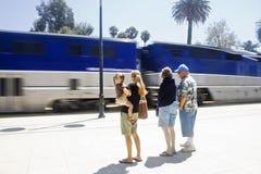 De Passagiers van de trein stock fotografie