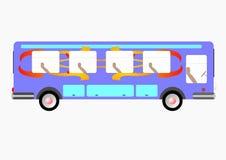 De passagiersbus royalty-vrije illustratie