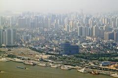 De passagiersHaven van Shanghai, CHINA (Retro Stijl) stock fotografie