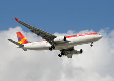 De passagiersjet van Colombia van Avianca royalty-vrije stock foto