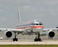 De passagiersstraal van American Airlines stock fotografie