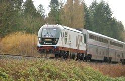 De Passagierstrein van Seattle Amtrac royalty-vrije stock afbeelding