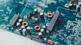 De passieve micro van Componentenpcb: weerstanden en condensatoren stock video
