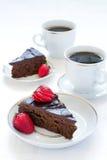 De pastei en de koffie van de chocolade Royalty-vrije Stock Foto's