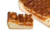 De pastei van de abrikoos. Stock Foto's