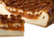 De pastei van de abrikoos. Stock Afbeeldingen
