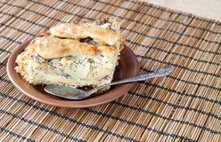 De pastei van de appel en van de peer Stock Foto
