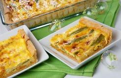 De pastei van de asperge Stock Foto's