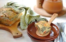 De Pastei van de aubergine en van de Tomaat Stock Afbeelding