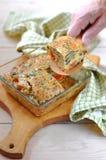 De Pastei van de aubergine en van de Tomaat Stock Foto's
