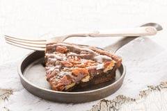 De Pastei van de chocoladepecannoot Royalty-vrije Stock Foto's