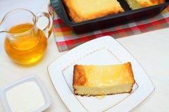 De pastei van de gestremde melk Royalty-vrije Stock Afbeeldingen
