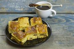 De pastei van de kaas Stock Foto's