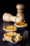 De pastei van de kip en van de paddestoel Stock Fotografie