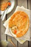 De Pastei van de kip en van de Pot van Groenten Royalty-vrije Stock Fotografie