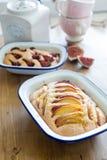 De pastei van de nectarineamandel Stock Foto