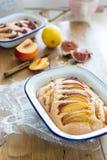 De pastei van de nectarineamandel Stock Fotografie
