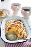 De pastei van de nectarineamandel Stock Afbeelding