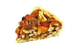 De Pastei van de pecannoot met Geassorteerde Noten en Karamel Royalty-vrije Stock Foto