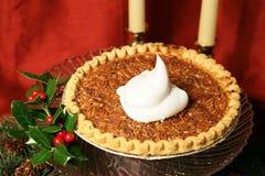 De Pastei van de Pecannoot van Kerstmis Royalty-vrije Stock Afbeeldingen