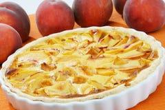 De pastei van de perzik Stock Foto