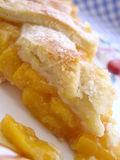 De pastei van de perzik Stock Fotografie