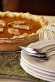 De pastei van de pompoen Stock Foto's