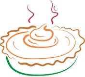De pastei van de pompoen lineart Stock Afbeelding