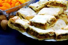 De pastei van de pompoen op de plaat Royalty-vrije Stock Foto's
