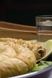 De pastei van de spinazie stock foto's